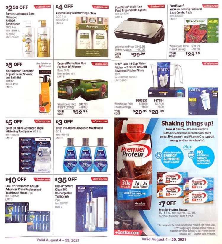 Costco Coupon Book AUGUST 2021   Page 2