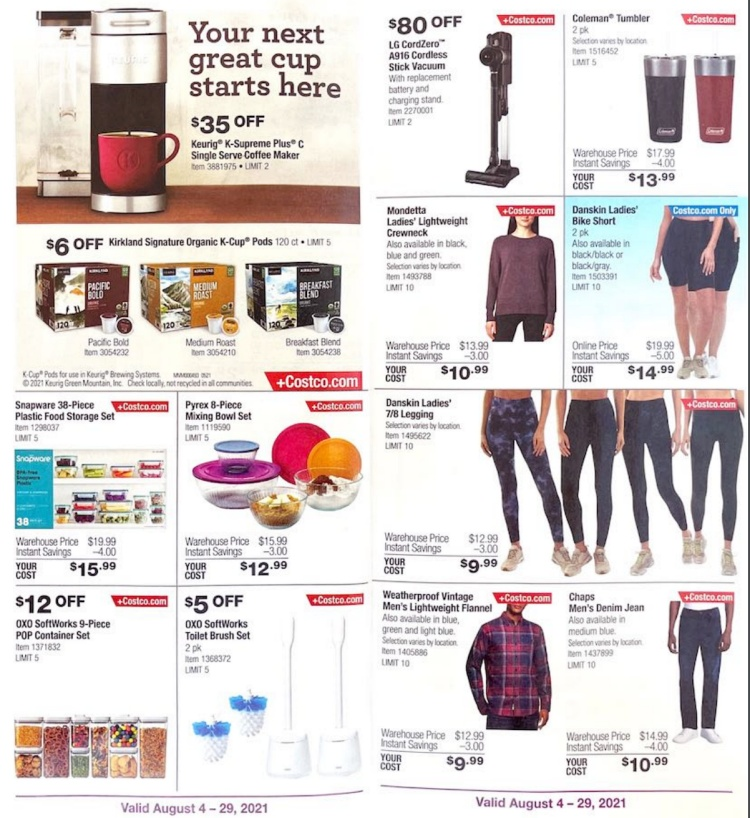 Costco Coupon Book AUGUST 2021   Page 3