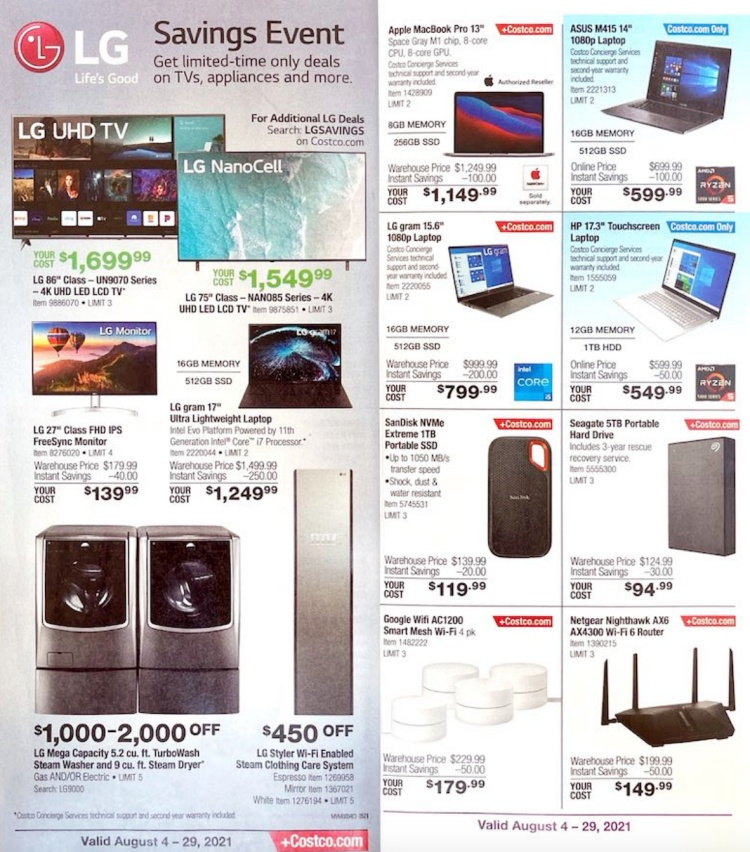 Costco Coupon Book AUGUST 2021   Page 4