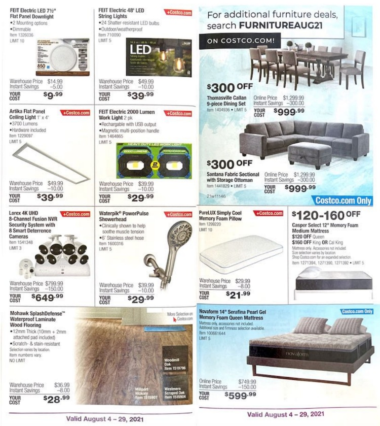 Costco Coupon Book AUGUST 2021   Page 6