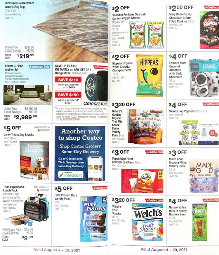 Costco Coupon Book AUGUST 2021   Page 7