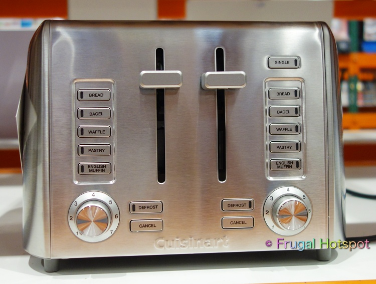 Cuisinart Custom Select 4-Slice Toaster front view | Costco Display