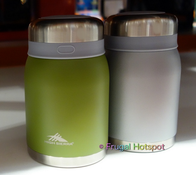 High Sierra Vacuum Insulated Stainless Steel Food Jar Green and gray | Costco Display
