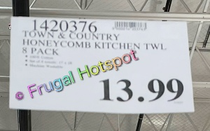 Honeycomb Kitchen Towels 8-Pack by Town & Country Living | Costco Price
