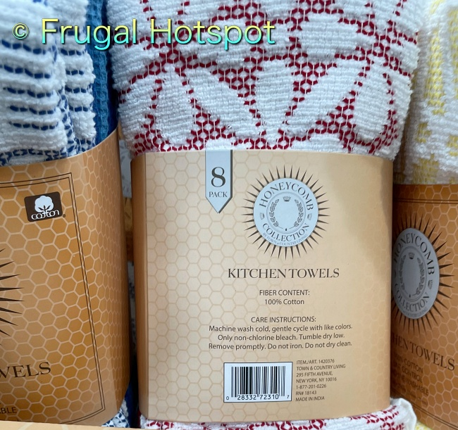 Honeycomb Kitchen Towels 8-Pack by Town and Country Living description | Costco