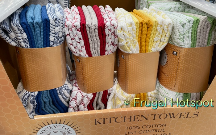 Honeycomb Kitchen Towels 8-Pack by Town and Country Living side view | Costco