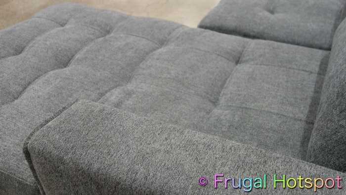 Kendale Convertible Fabric Sofa Chaise with Pull-Out Bed by Pulaski | Costco Display 2