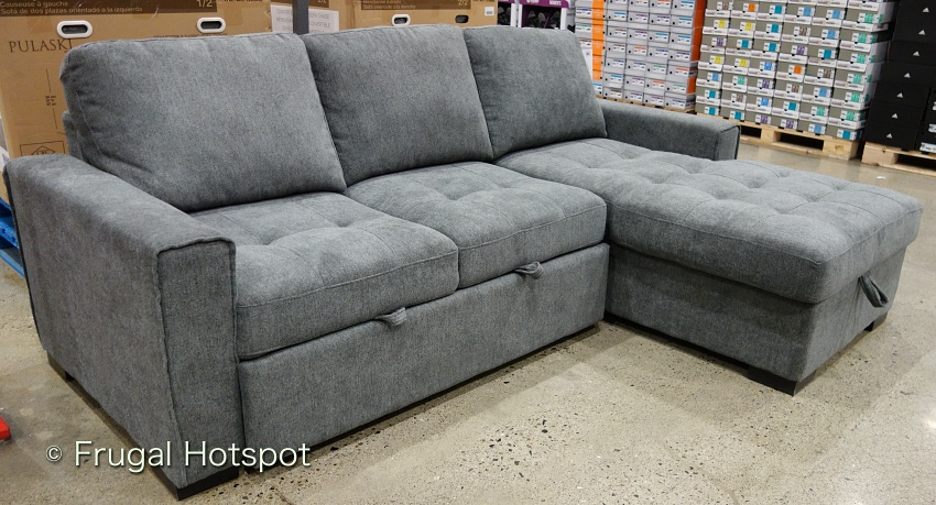 Kendale Convertible Fabric Sofa Chaise with Pull-Out Bed by Pulaski | Costco Display