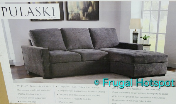 Kendale Convertible Fabric Sofa Chaise with Pull-Out Bed by Pulaski | Costco