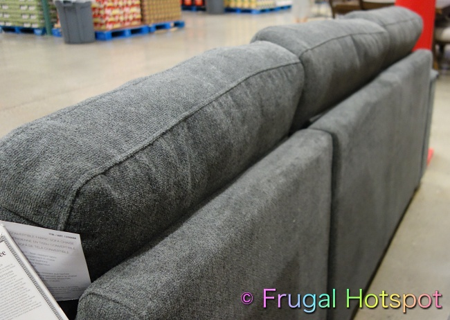 Kendale Convertible Fabric Sofa Chaise with Pull-Out Bed by Pulaski rear view | Costco