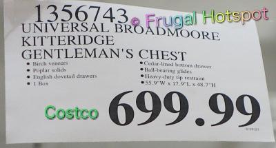 Kitteridge Gentleman's Chest by Universal Broadmoore | Costco Price