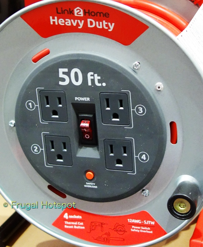 Link2Home Heavy Duty Cord Reel front view   Costco Display