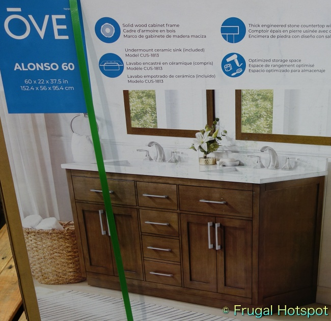 Ove Decors Alonso 60 Bathroom Vanity with brushed nickel hardware | Costco