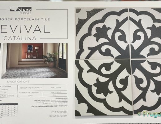 Revival Catalina Designer Porcelain Tile by Shaw Floors   Costco Display