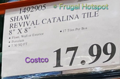 Revival Catalina Designer Porcelain Tile by Shaw Floors   Costco Price