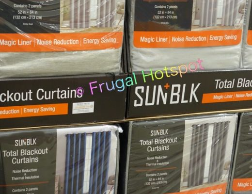 SUN+BLK Kinsley Total Blackout Curtains by Silk Home | Costco