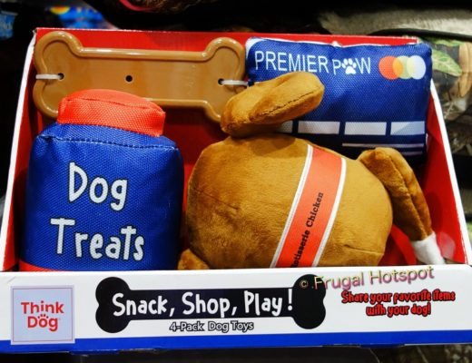 Think Dog Snack, Shop, Play! 4-Pack Dog Toys with Rotisserie Chicken | Costco
