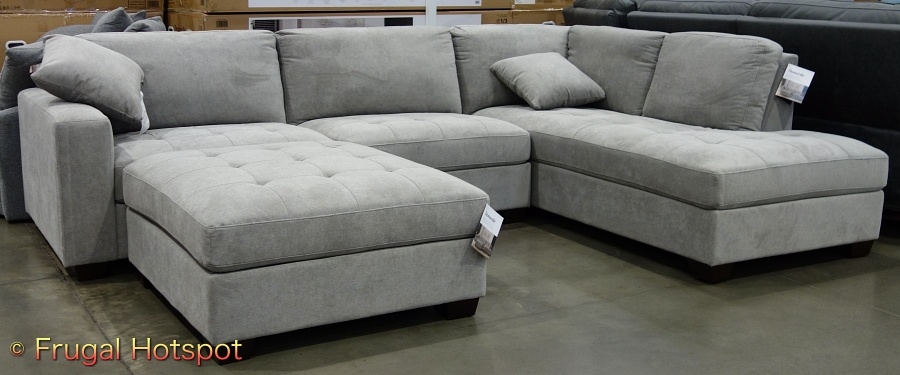 Thomasville Miles Fabric Sectional with Ottoman | Costco Display