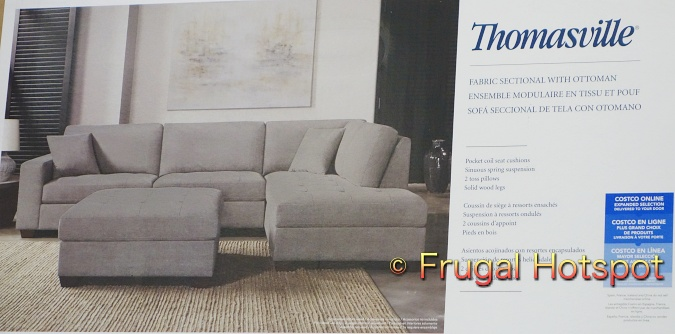 Thomasville Miles Fabric Sectional with Ottoman | Costco