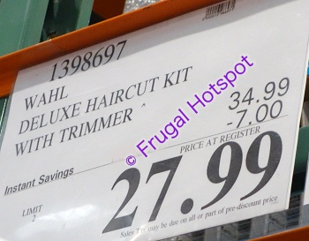 Wahl Deluxe Hair Cutting Kit with Hair Clipper and Beard Trimmer   Costco Sale Price