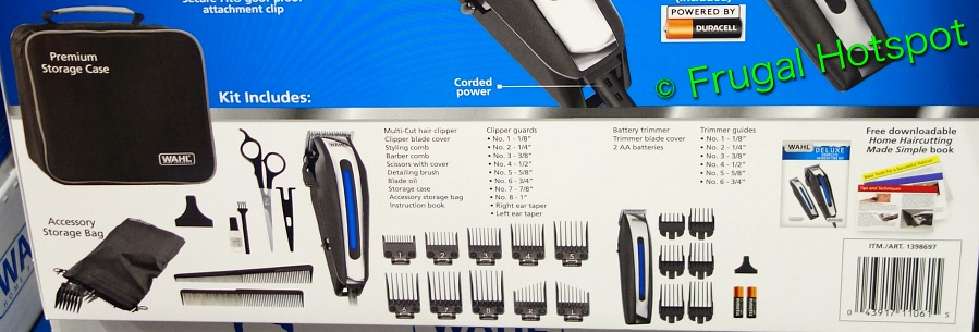 Wahl Deluxe Hair Cutting Kit with Hair Clipper and Beard Trimmer details   Costco