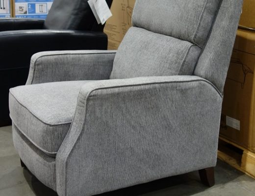 Arlie Fabric Pushback Recliner by Synergy Home Furnishings | Side view | Costco Display