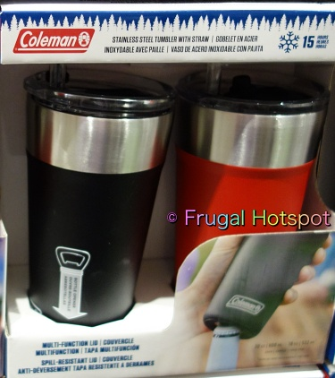 Coleman Stainless Steel 20-oz Tumbler with Straw 2ct | Costco 1516452