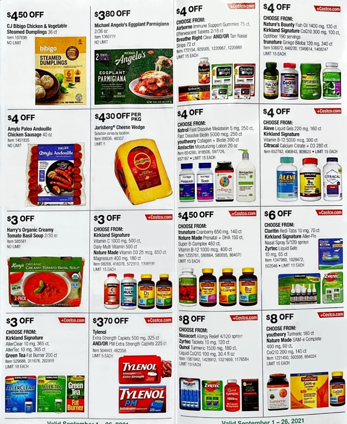 Costco Coupon Book SEPTEMBER 2021 Page 12