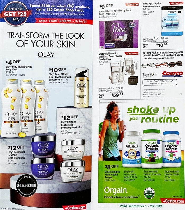 Costco Coupon Book SEPTEMBER 2021 Page 4 b