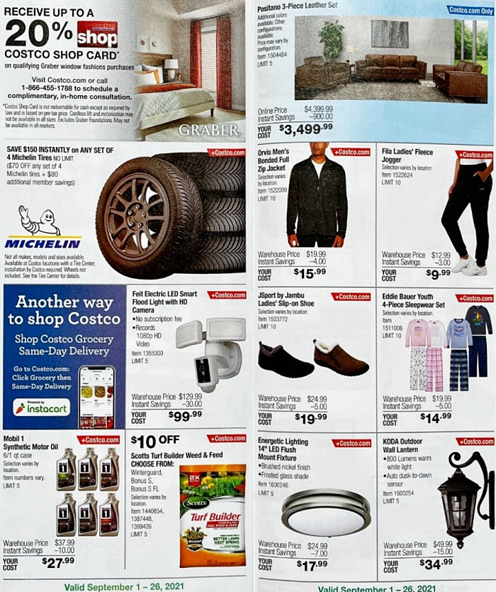Costco Coupon Book SEPTEMBER 2021 Page 8