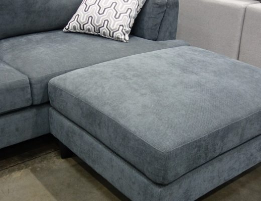Ellery Fabric Sectional with Ottoman | loveseat and ottoman | Costco Display