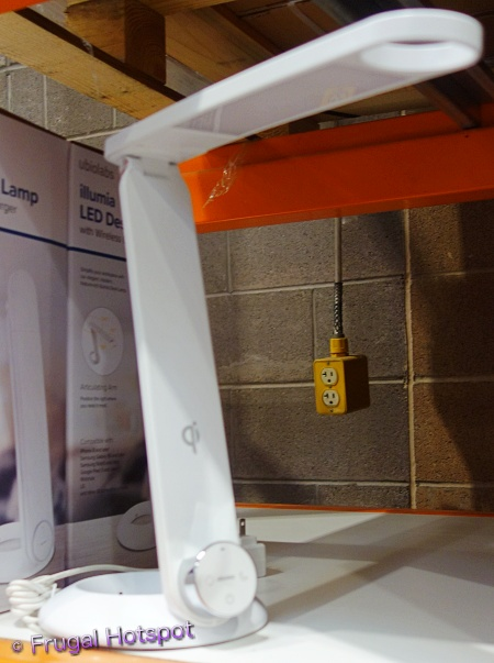 Illumia LED Desk Lamp with Wireless Charger by ubiolabs   Costco Display