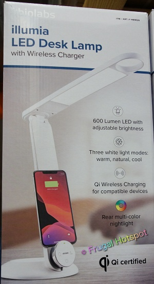 Illumia LED Desk Lamp with Wireless Charger by ubiolabs   Costco