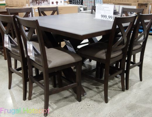 Langston 9-Piece Counter Height Dining Set by Bayside Furnishings | Costco Display