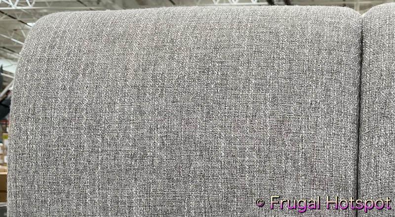 Northridge Home Upholstered Piper Glen Queen Bed | close up view | Costco Display