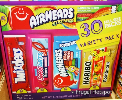 Airheads Xtremes   Twizzlers   Sweetarts Ropes   Airheads Filled Ropes   Haribo Goldbears   Costco