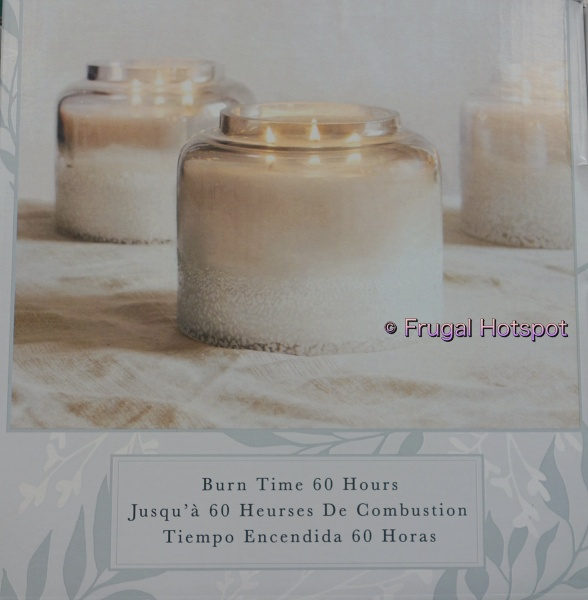 Alaura Fragranced Ombre Artisan Candle by Northern Lights | Burn time | Costco