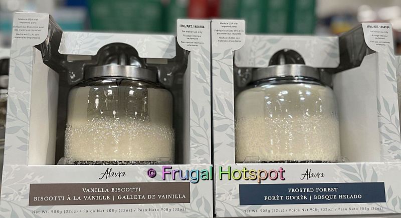 Alaura Fragranced Ombre Artisan Candle by Northern Lights | Vanilla Biscotti and Frosted Forest | Costco