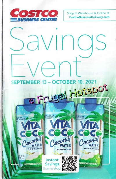 Costco Business Center Coupon Book SEPTEMBER : OCTOBER 2021 | Cover