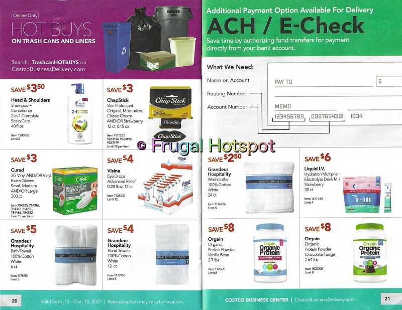 Costco Business Center Coupon Book SEPTEMBER : OCTOBER 2021 | Pages 20-21