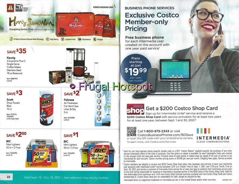 Costco Business Center Coupon Book SEPTEMBER : OCTOBER 2021 | Pages 22-23