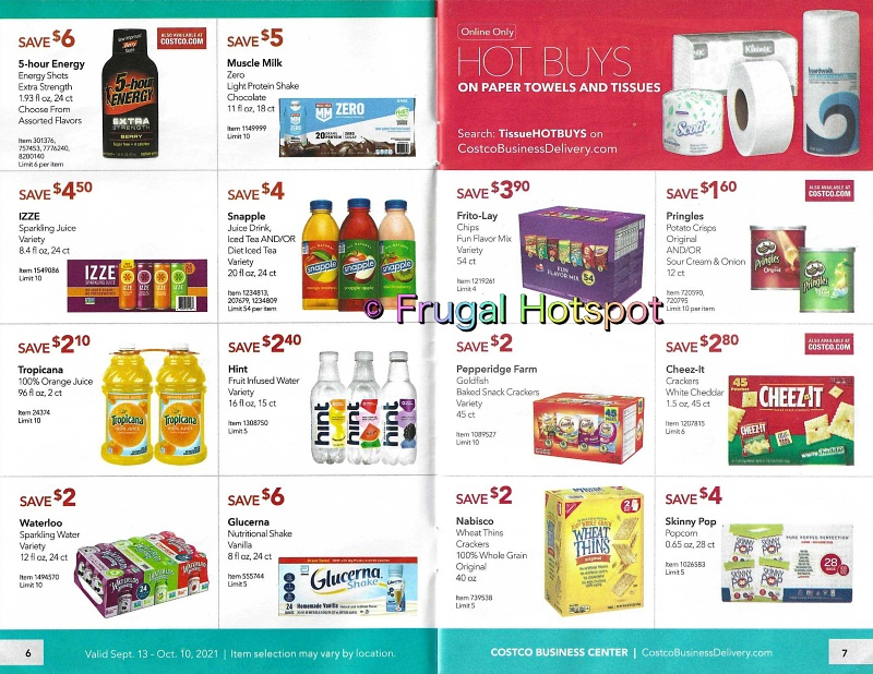Costco Business Center Coupon Book SEPTEMBER : OCTOBER 2021 | Pages 6-7