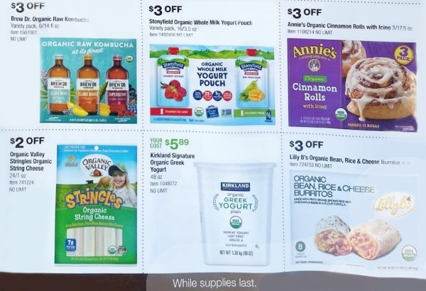 Costco ORGANIC Coupon Book SEPTEMBER 2021 Page 3 B