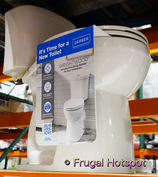 Gerber Wrightwood Dual Flush Elongated Complete Toilet Kit | Costco Display 2