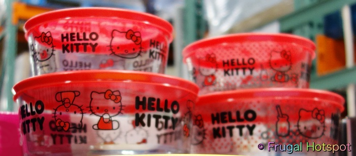 Hello Kitty Pyrex Glass Food Storage Containers   Costco Display 2