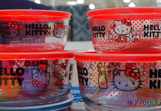 Hello Kitty Pyrex Glass Food Storage Containers | Costco Display