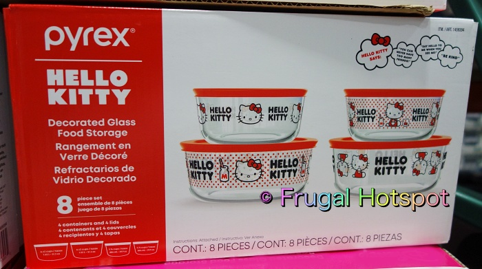 Hello Kitty Pyrex Glass Food Storage Containers   Costco