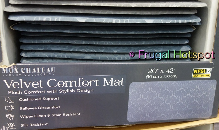 Mon Chateau Comfort Kitchen Mat   gray and blue gray   Costco