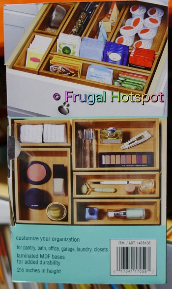 Seville Classics Bamboo Organizing Boxes 10 pieces | coffee pod container | makeup organizer | Costco
