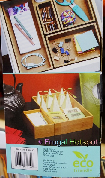 Seville Classics Bamboo Organizing Boxes 10 pieces | desk drawer | tea boxes | Costco